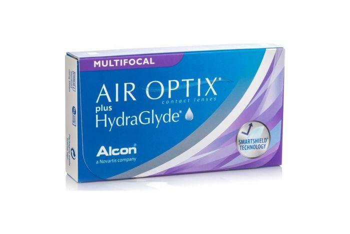 Air Optix Plus HydraGlyde Multifocal ( 3 φακοί ) Μηνιαίοι Πολυεστιακοί