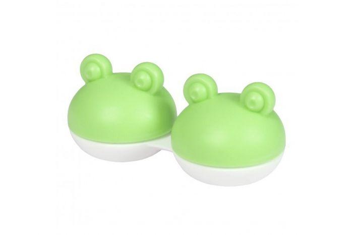 Θήκες Φακών Επαφής Funny Animals - Green Frog